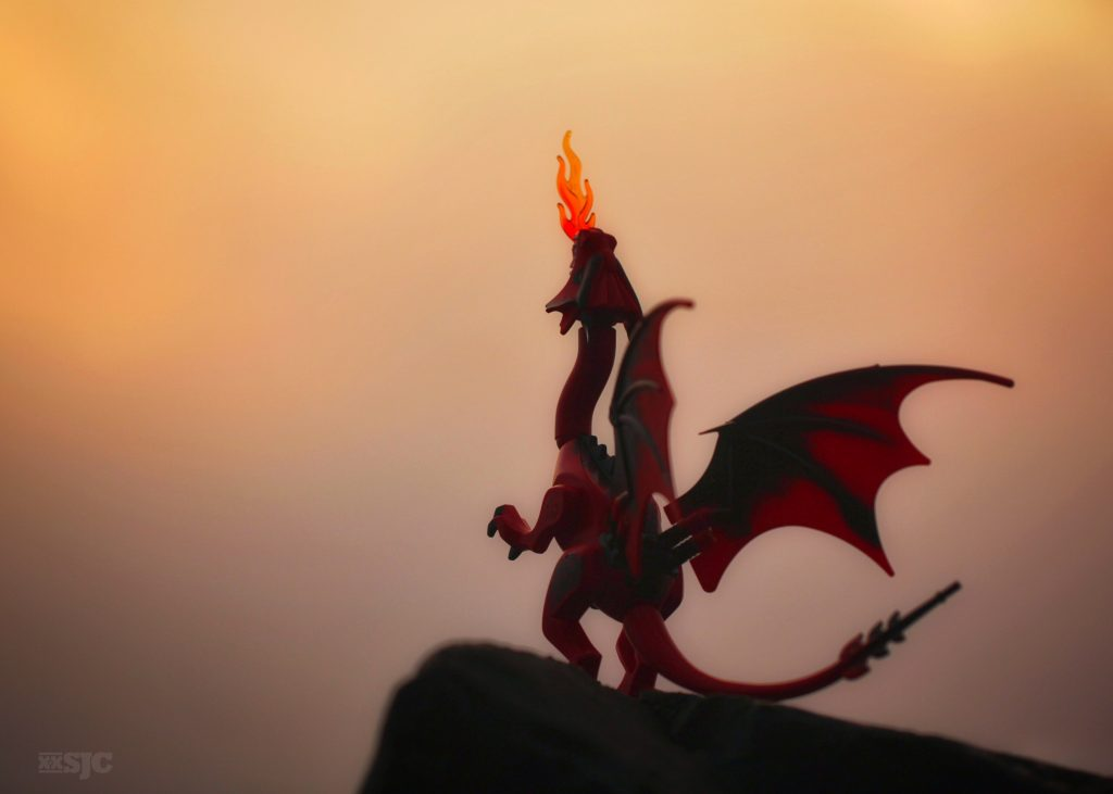 Dragon at sunrise WM