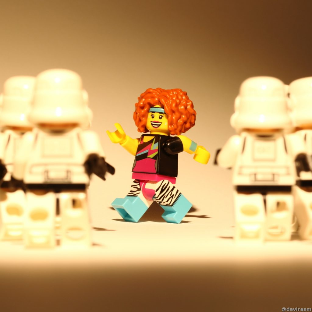 dance instructor and strormtroopers