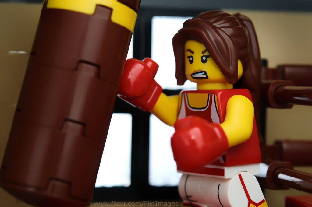 Kara the Kickboxer also enjoys training in the new gym