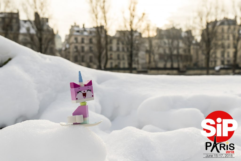 Sadly there won't be snow in Paris in June, but Unikitty will be happy to welcome you