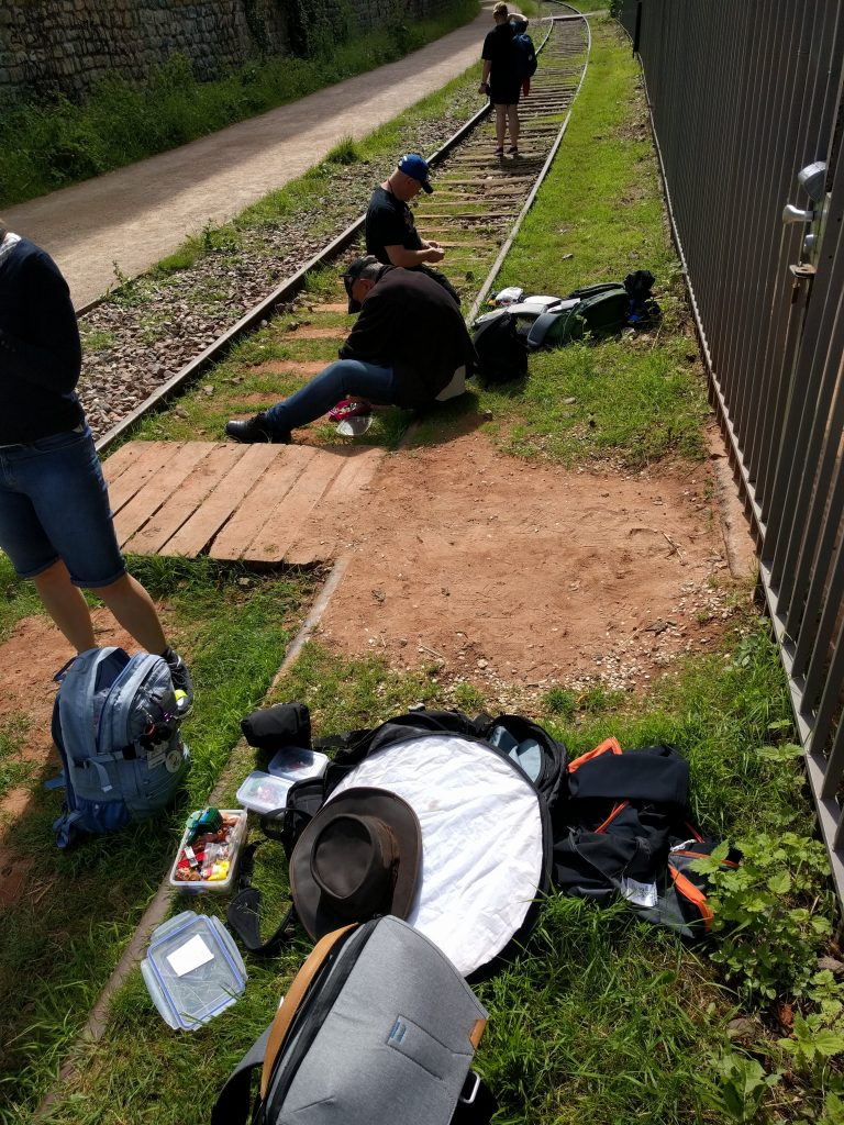 Abandoned rail tracks