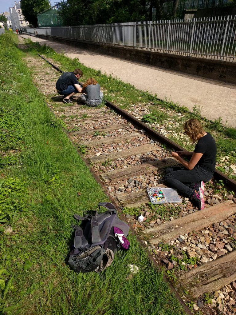 Playing on the tracks